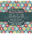 Christmas background with balls and label for text vector