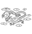 Chinese dragon in clouds vector
