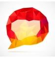 Abstract triangles idea bubble vector