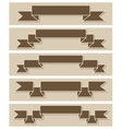 Set of retro ribbons flat design vector