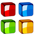 Abstract glass cubes vector