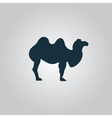 Camel icon on grey background vector