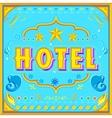 Hotel poster vector