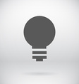 Flat save energy bulb light icon symbol background vector
