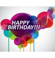 Colorful happy birthday banner vector