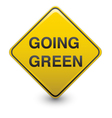 Road sign - going green vector