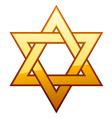 Golden david star vector