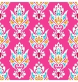Pink damask seamless pattern vector