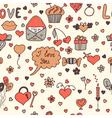 Stylish romantic seamless pattern in vector