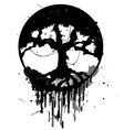 Grunge abstract tree vector
