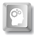 Human brain computer key vector