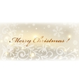 Gold christmas card colorful vector