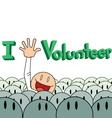 Volunteer poster background vector