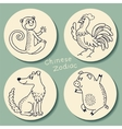 Set of the chinese zodiac signs vector