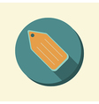 Flat web icon label vector