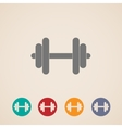 Set of dumbbell icons vector