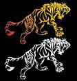 Tiger tattoo design vector