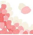 Background of pink flower petals vector