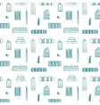 City buildings seamless pattern vector