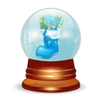Christmas decorative snow ball vector