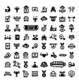 Big fitness icons set vector