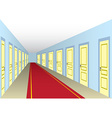 Hall with doors vector