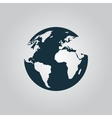 Globe earth icons on grey background vector