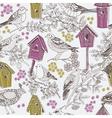 Birdhouse drawing vector