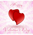 Happy valentines day floral card vector