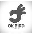 Ok bird symbol icon vector