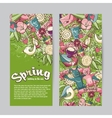 Set of vertical banners on the theme spring vector