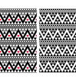 Tribal aztec colorful seamless pattern with heart vector