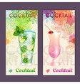 Artistic decorative watercolor cocktail poster vector