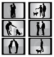 Couple with film vector