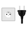 Power plug and socket vector
