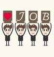 Business man love job vector