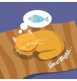 Sleeping cat background vector