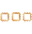 Gold pattern frame vector