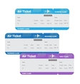 Air tickets isolated on white background vector