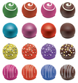 Colorful candies vector