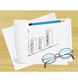 Planning bar graph paper vector