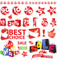 Sale icons and symbols vector