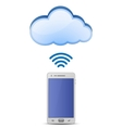Smart phone and cloud network vector