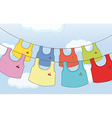 Colorful hanging clothes vector