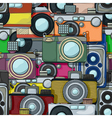 Vintage camera pattern vector