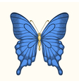 Butterfly in pastel colors in graphic style vector
