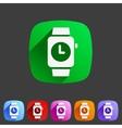 Watch icon sign symbol logo label set vector