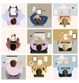 Business office workers vector