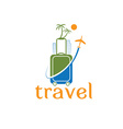 Travel template vector