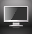Modern lcd monitor with blank screen vector